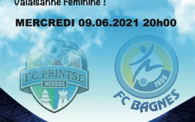Live 1/2 finale FC Bagnes féminin